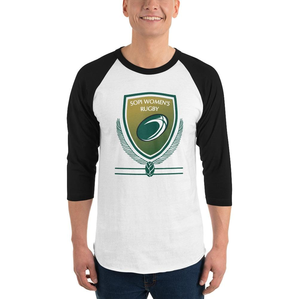 SOUTHERN PINES RFC 3/4 sleeve raglan shirt Black & White