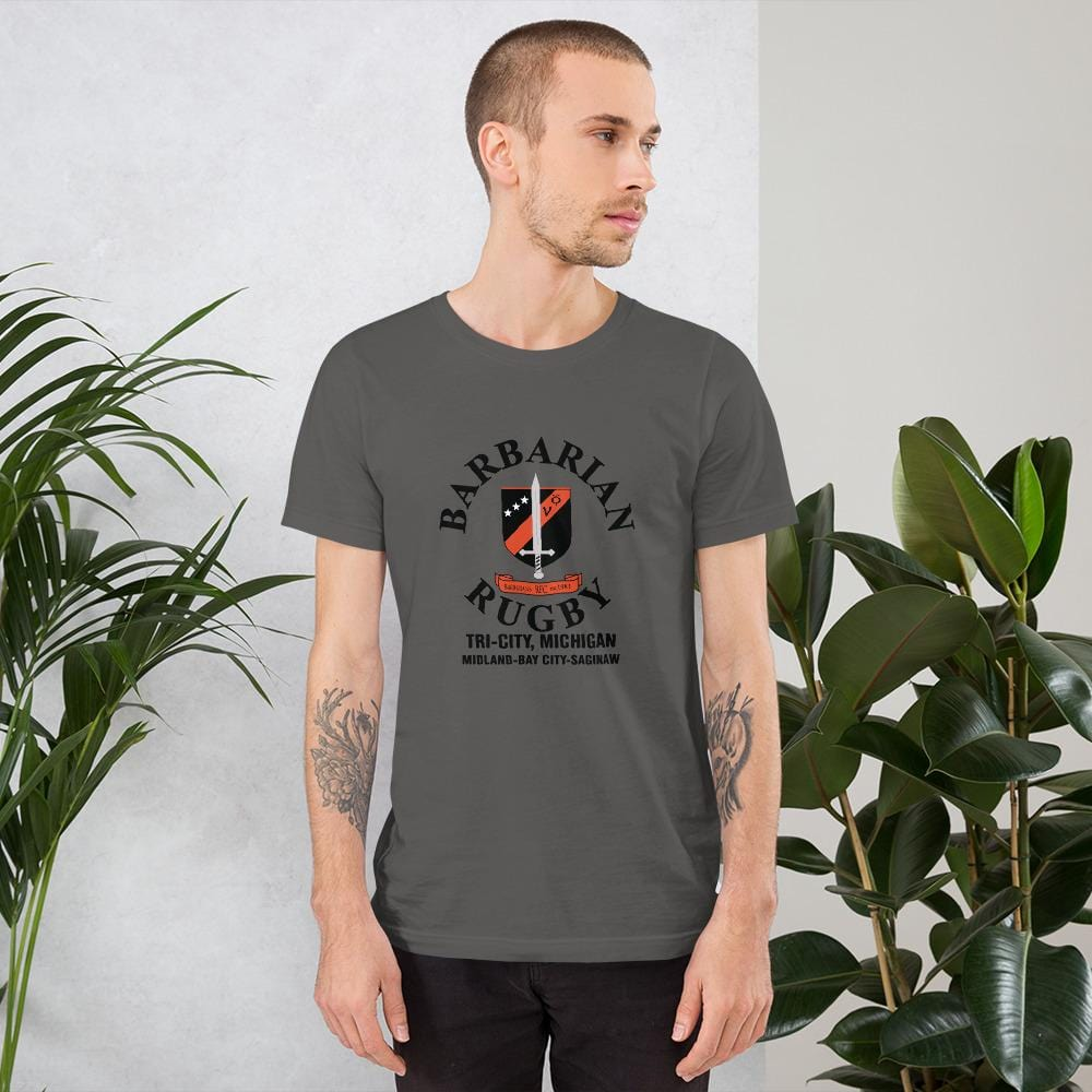Tri City Barbarians Short-Sleeve Unisex T-Shirt Asphalt