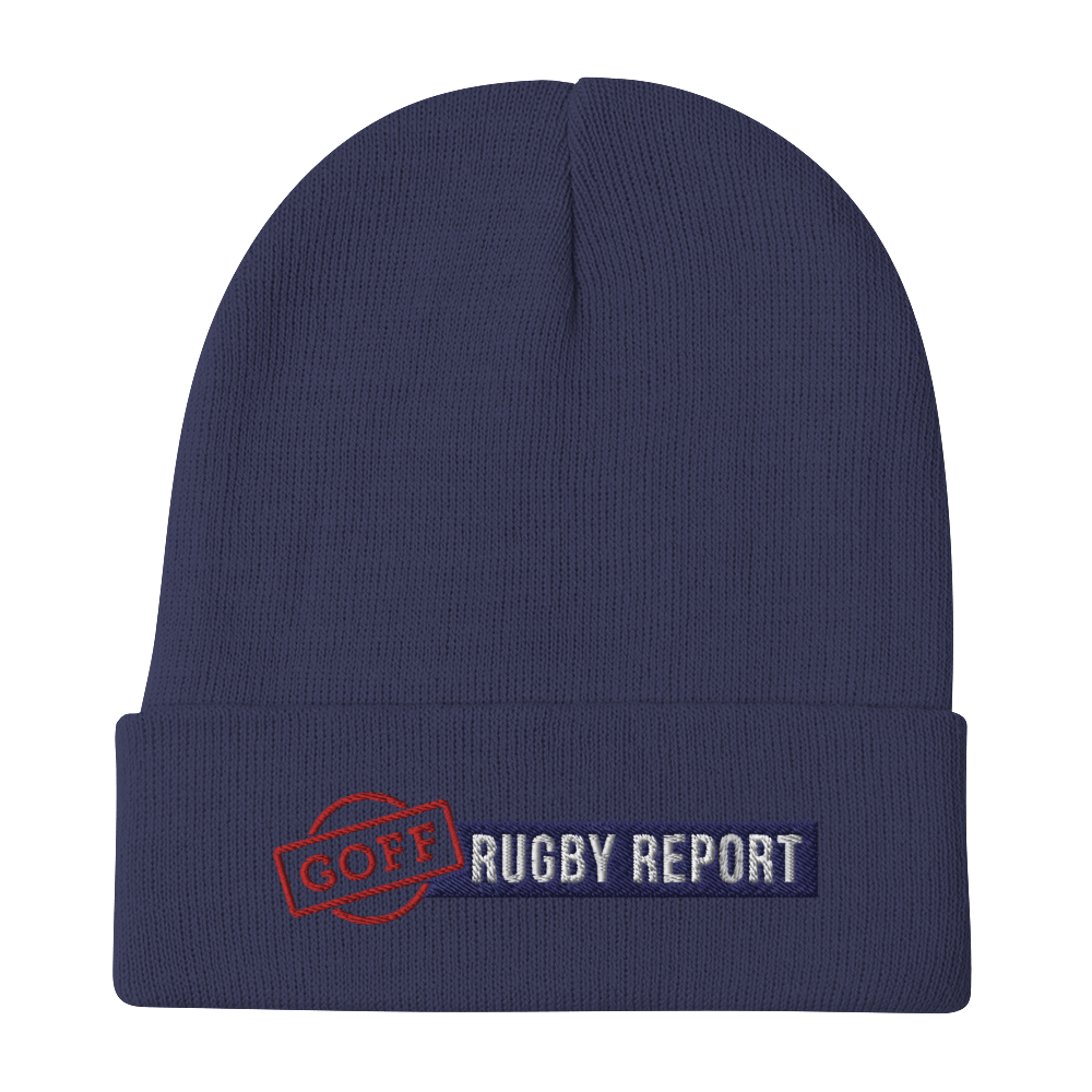 Goff Rugby Report Navy On Field Training Beanie
