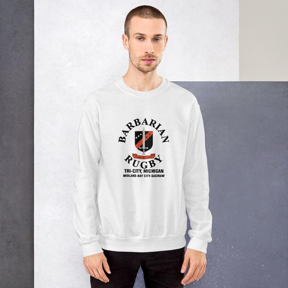 Tri City Barbarians Unisex Sweatshirt White