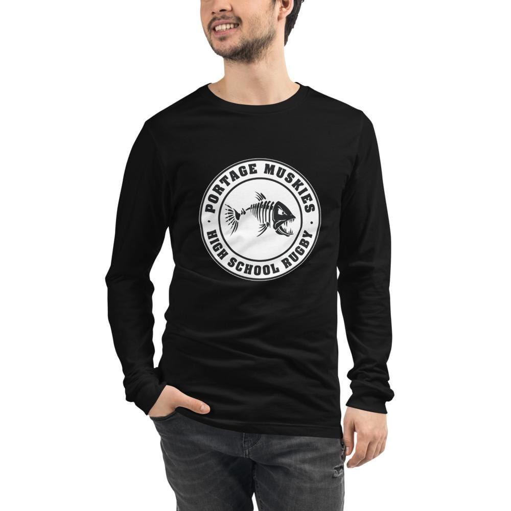 Portage Muskies Rugby Unisex Long Sleeve Tee Black
