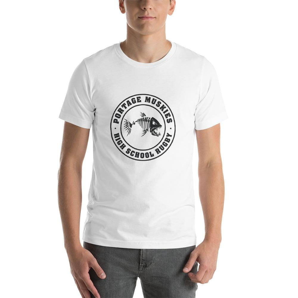 Portage Muskies Rugby Short-Sleeve Unisex T-Shirt White
