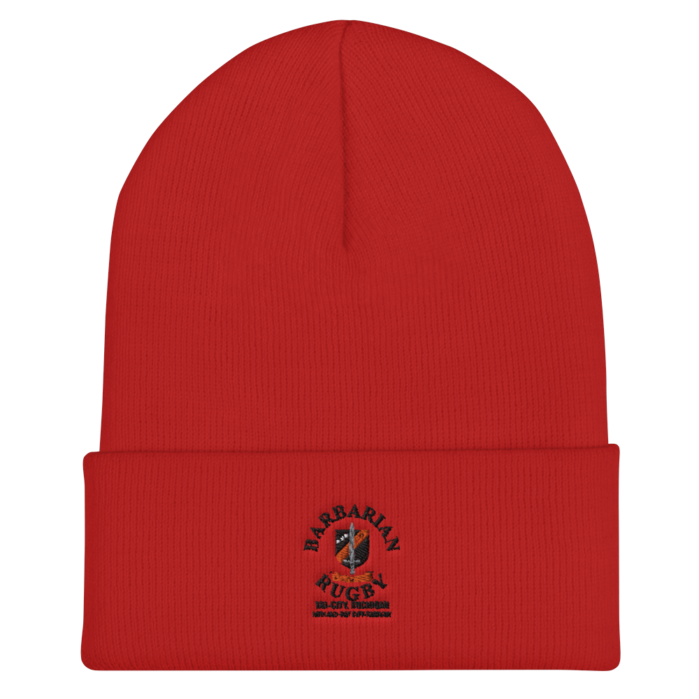 Tri City Barbarians On Field Training Beanie Red
