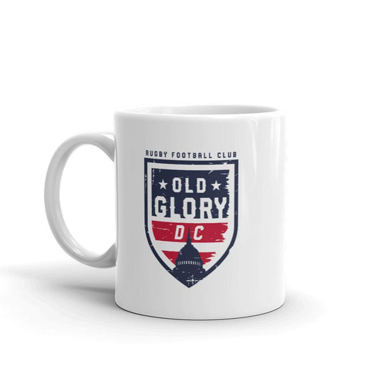Old Glory DC Rugby Logo on White Ceramic Mug
