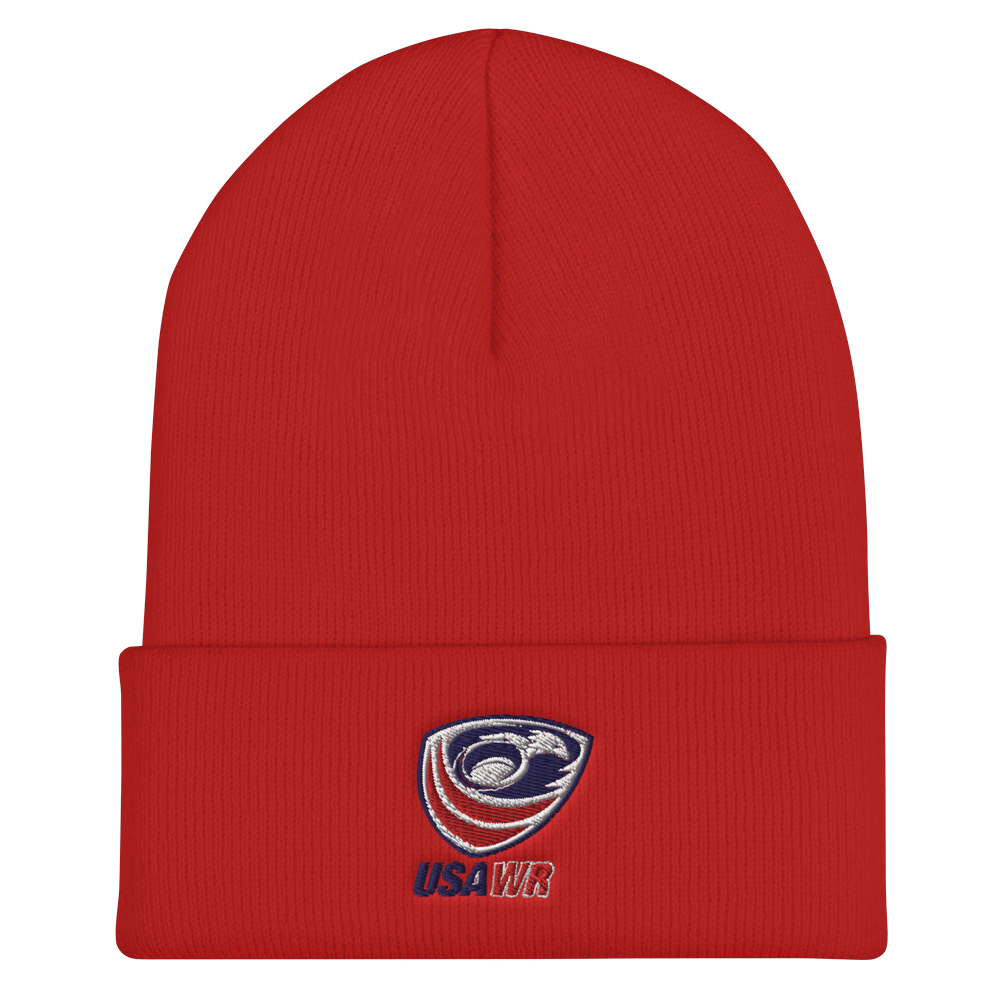 USA Wheelchair Rugby On Field Training Beanie Red