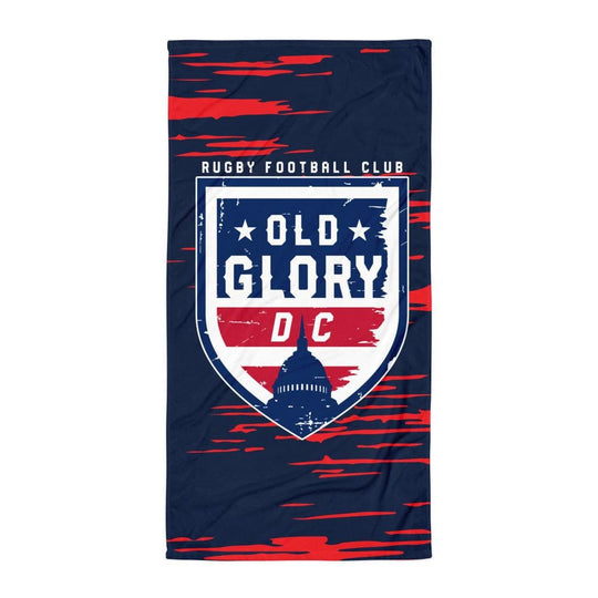 Old Glory DC Rugby Towel Navy With Logo