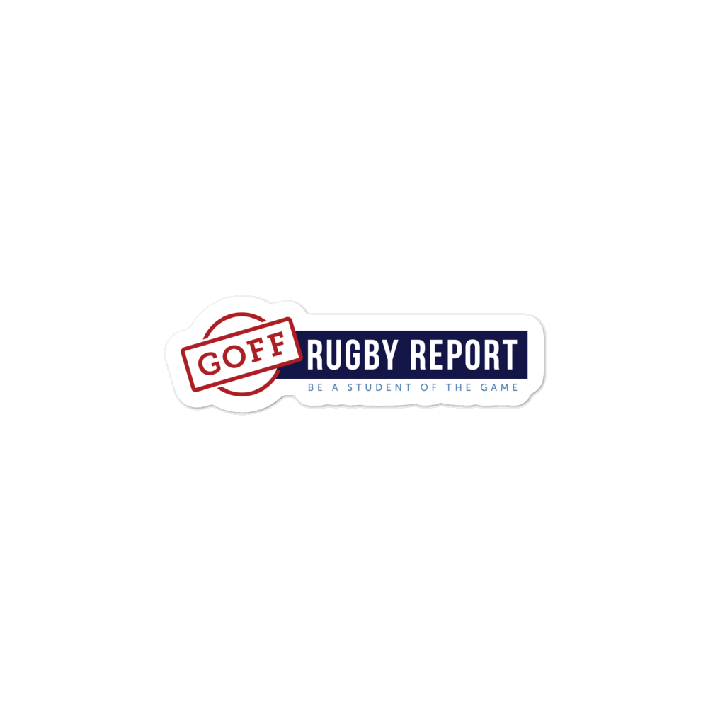 Goff Rugby Report Stickers