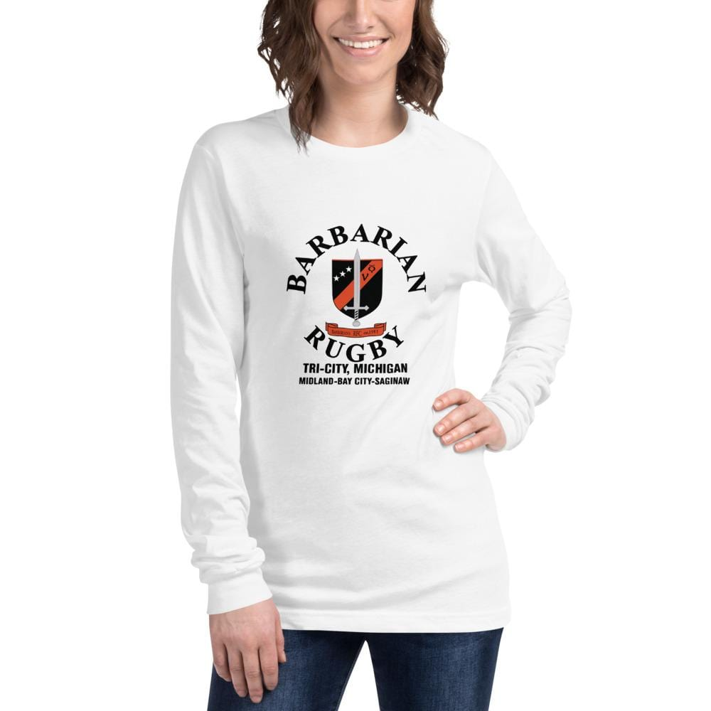 Tri City Barbarians Unisex Long Sleeve Tee White