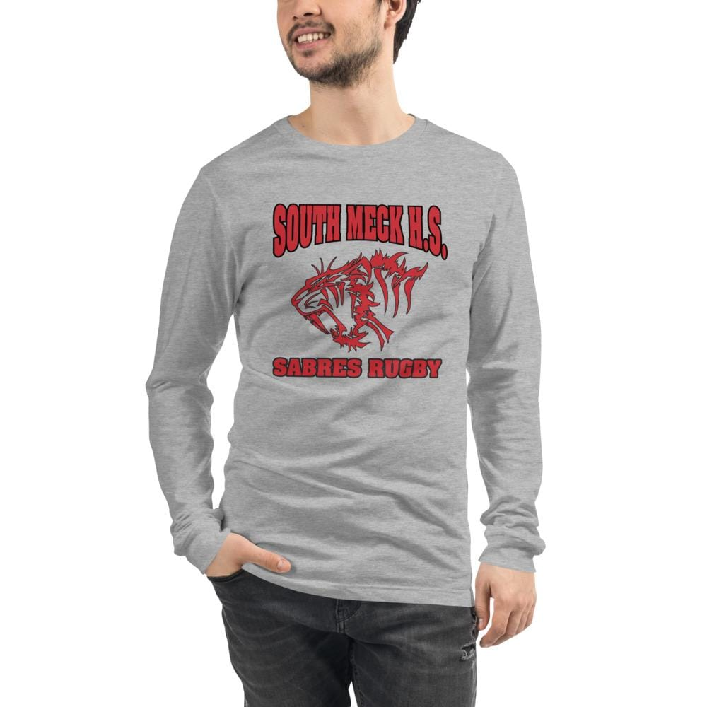 South Mecklenburg High School Unisex Long Sleeve Tee Grey