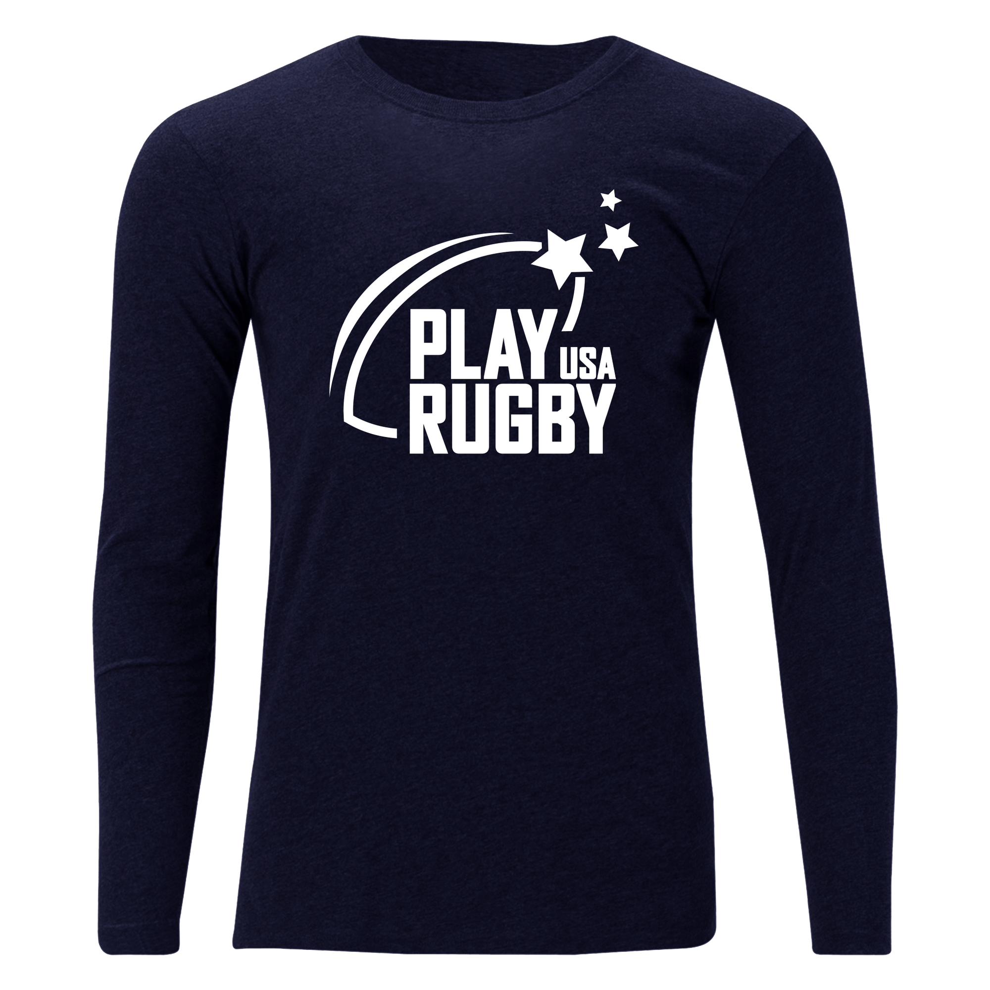 Play Rugby USA Off Field T-Shirt LS Navy