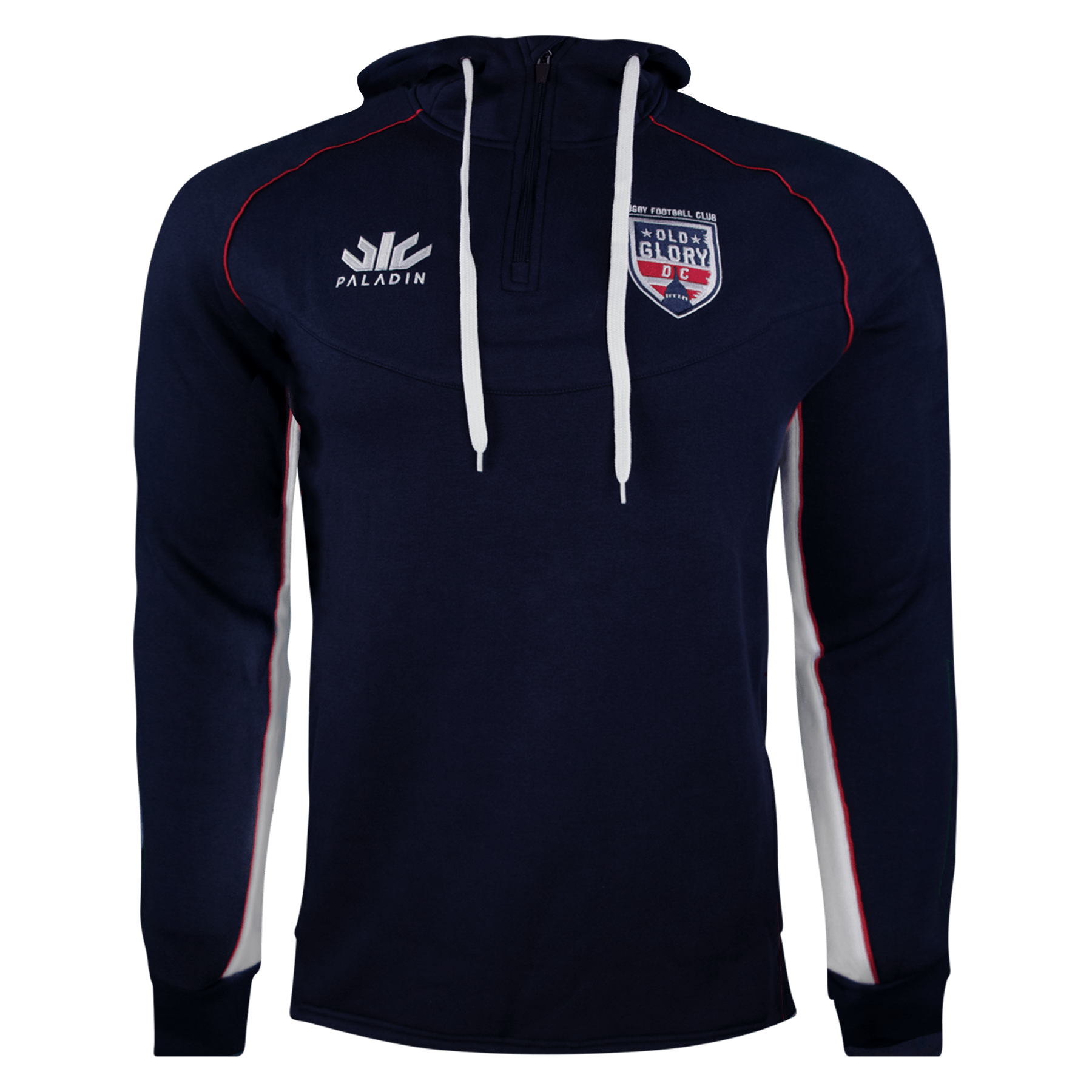 Paladin Old Glory DC Rugby Hoodie Navy With Red & White Detail
