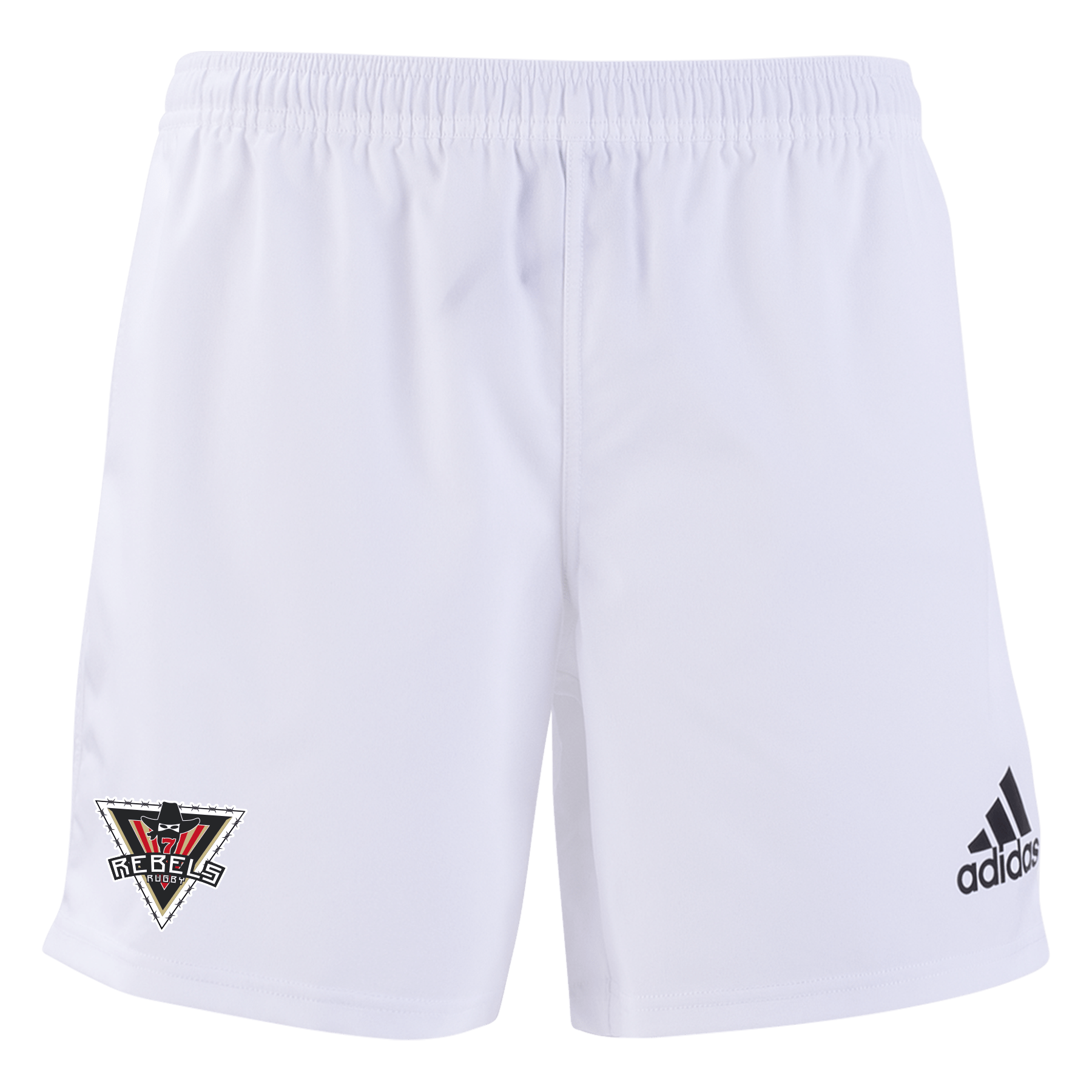 Rebels Rugby Academy adidas 19 White/Black 3 Stripe Shorts