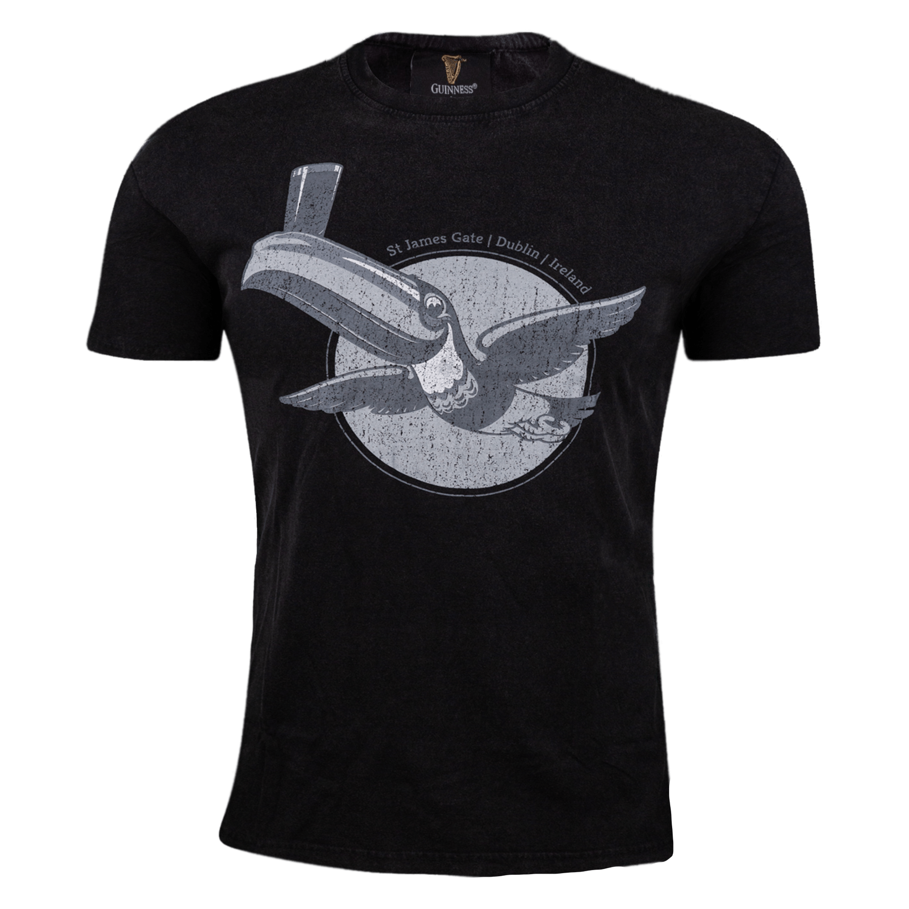 Guinness Vintage Gilroy Toucan Graphic T-Shirt
