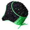 Side View Gilbert Ignite Scrum Cap Black and Green