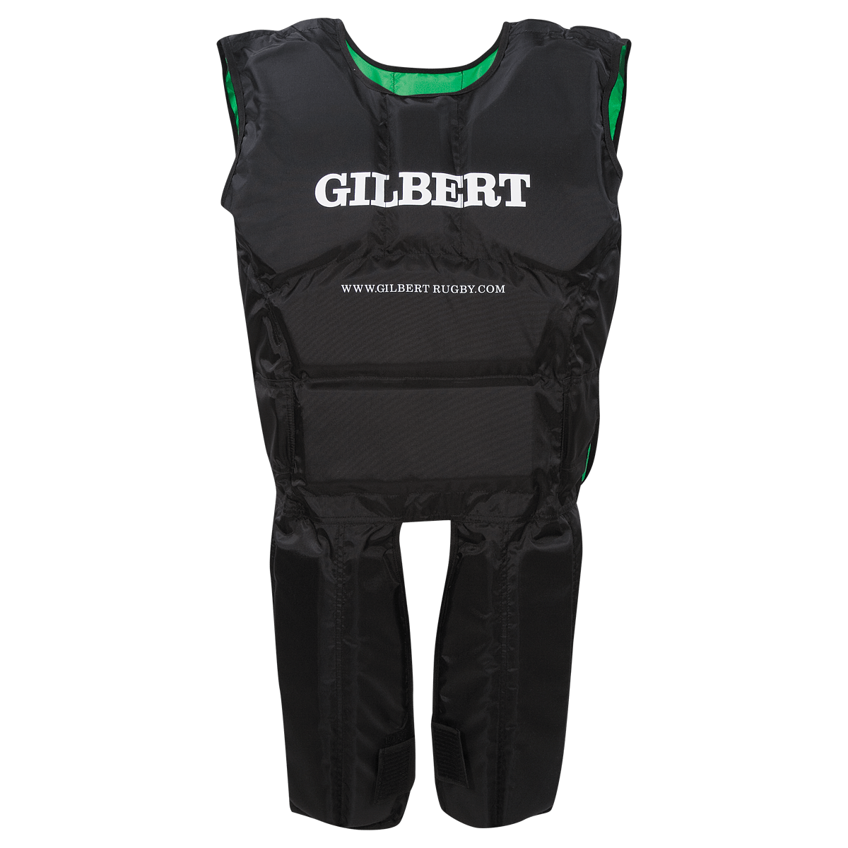 Gilbert Rugby Armour Suit Black with White Gilbert on Chest