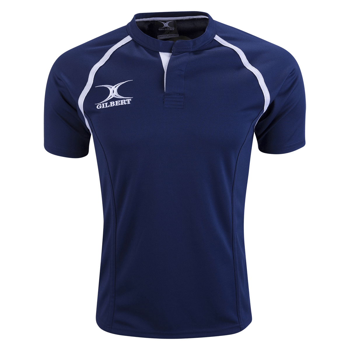 Gilbert Navy Xact Premier Rugby Jersey Front