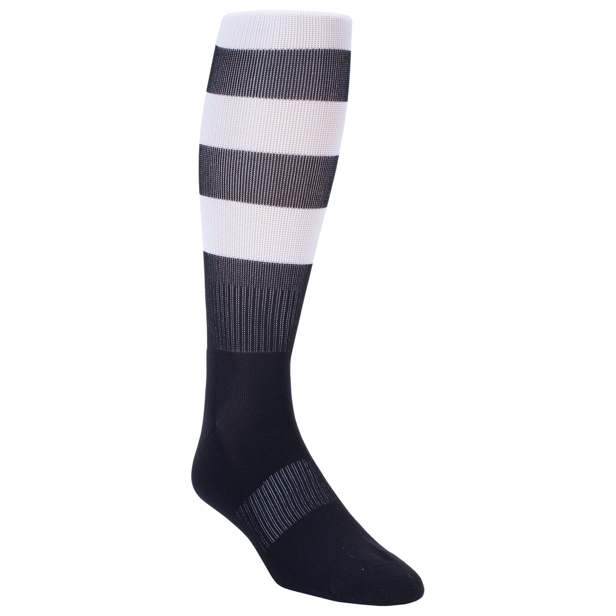 Elite Black/White Hooped Rugby Socks