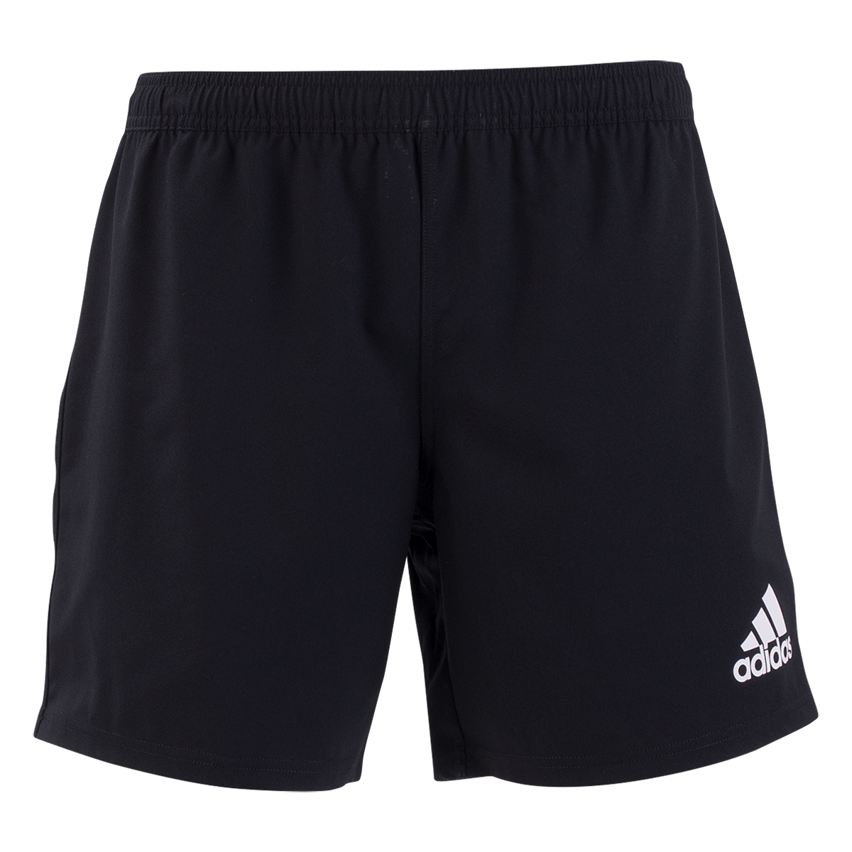 Front View of Adidas 19 Black/White Youth Rugby Shorts