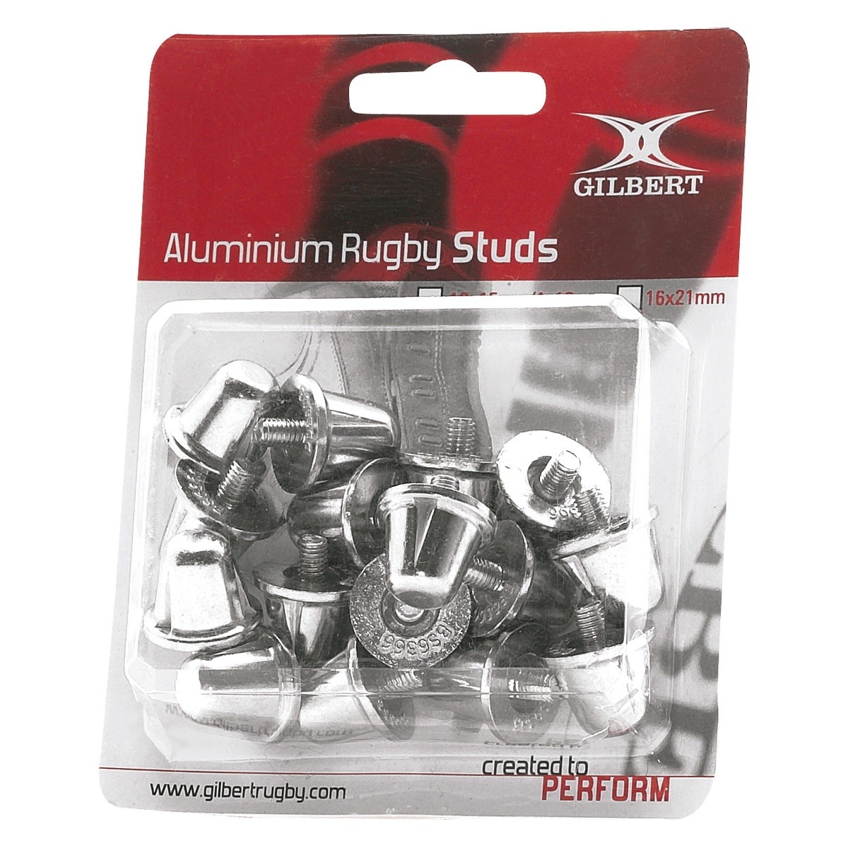 Gilbert Aluminum Replacement Rugby Studs (Blister Pack)