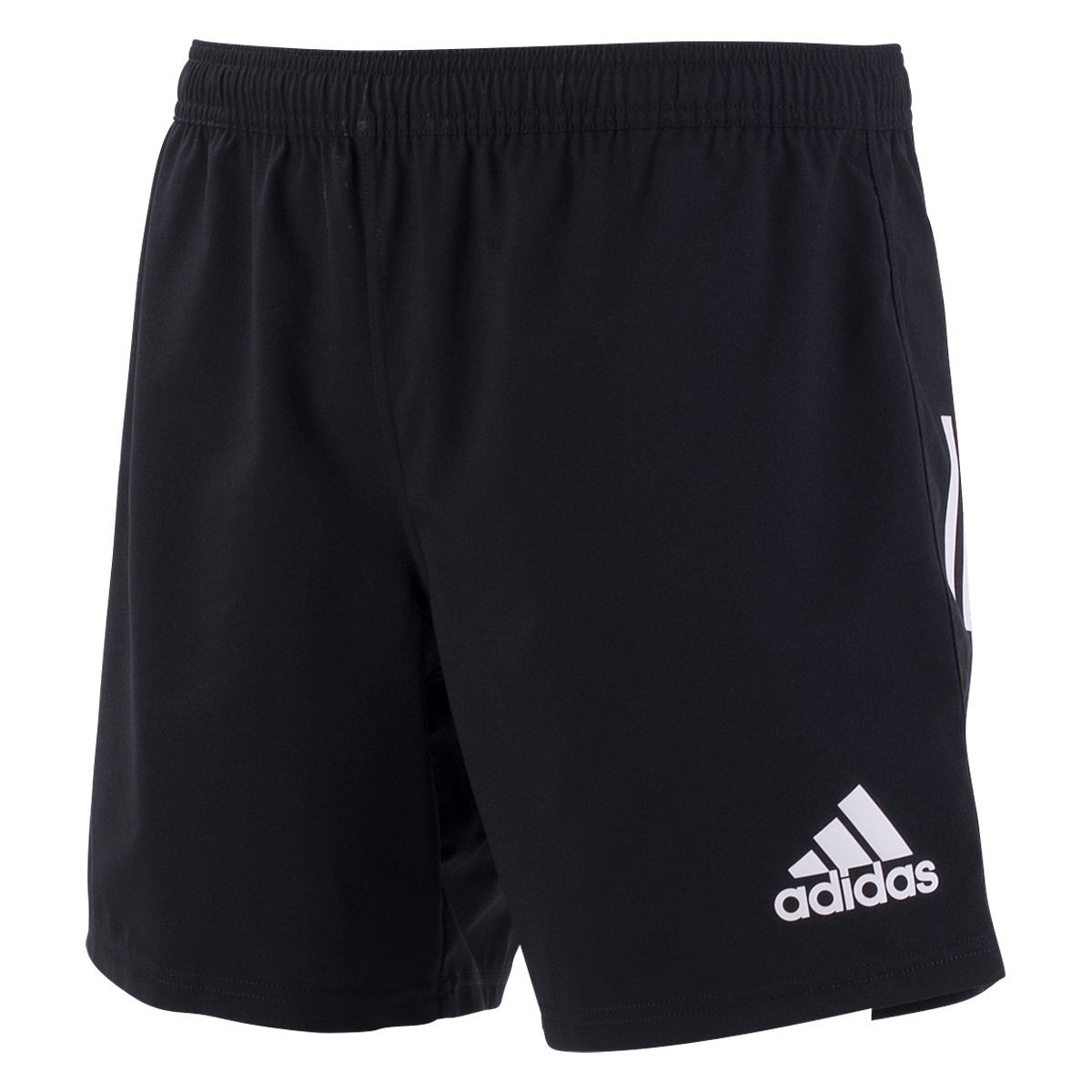 adidas 19 Black/White 3 Stripe Shorts