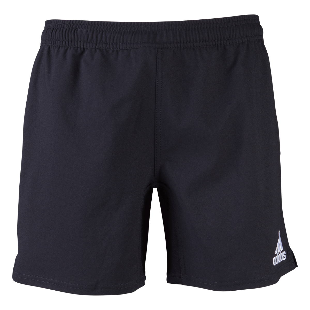 Black Adidas Youth Shorts Front View