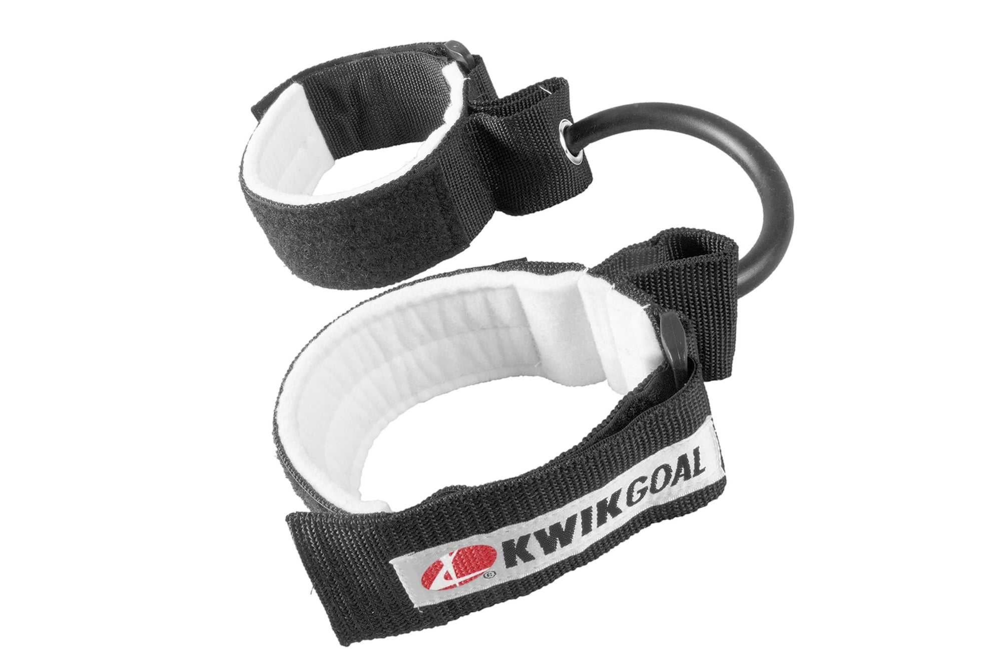 Black Ankle Speed Bands With White Interior & Kwik Goal Label