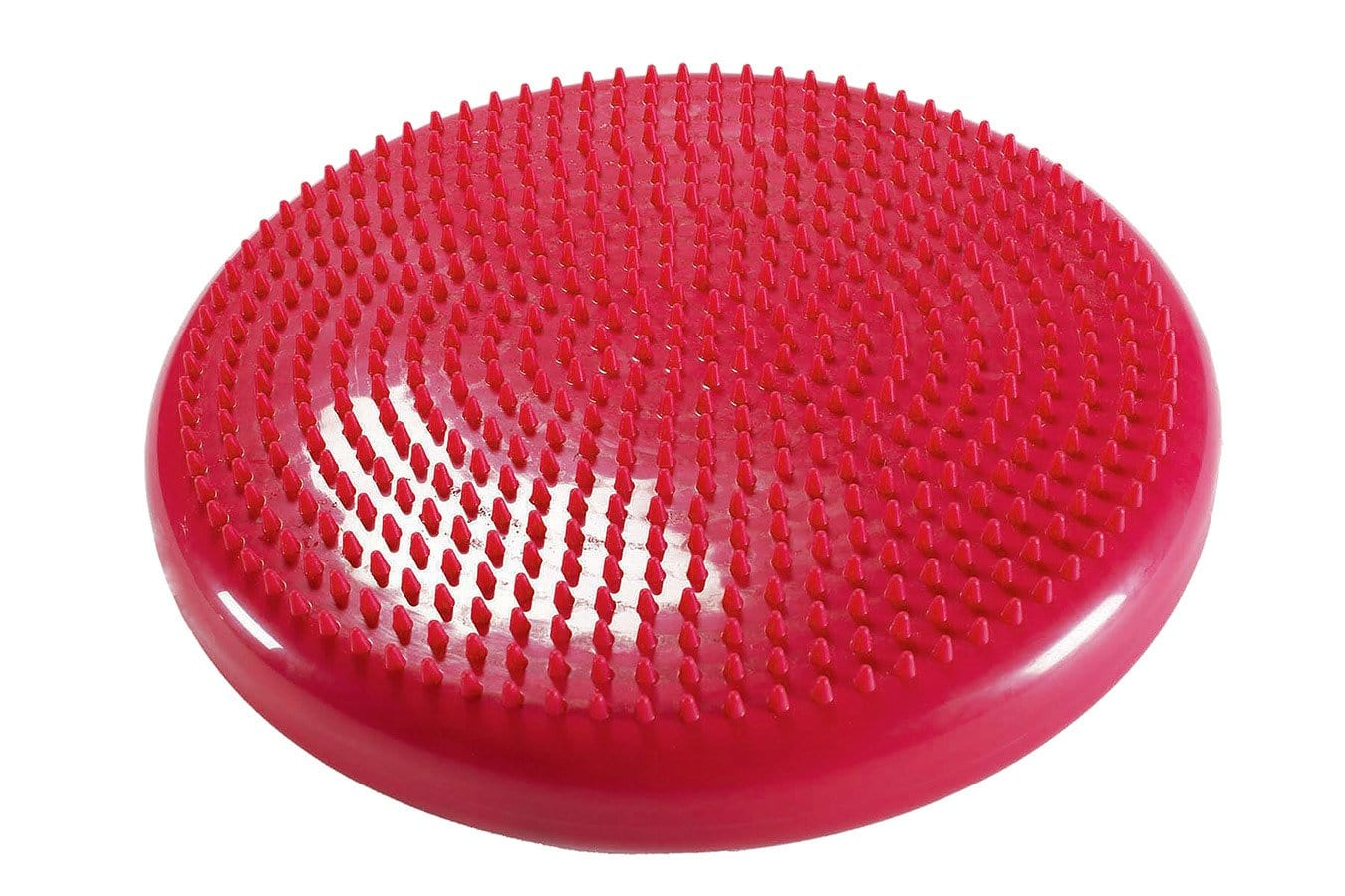 Close Up of Red Wobble Pillow