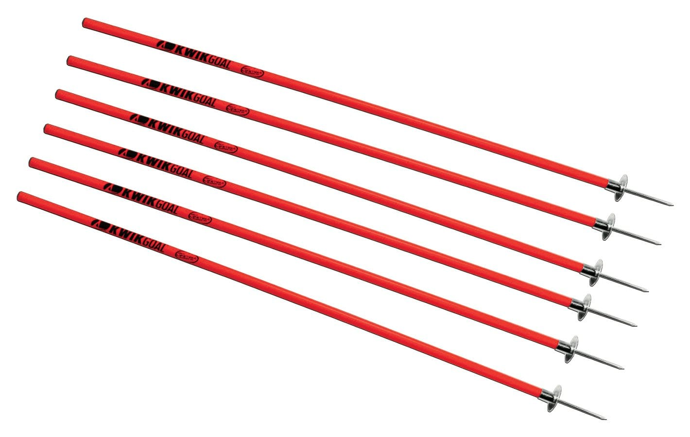 Red Rugby Coaching Sticks