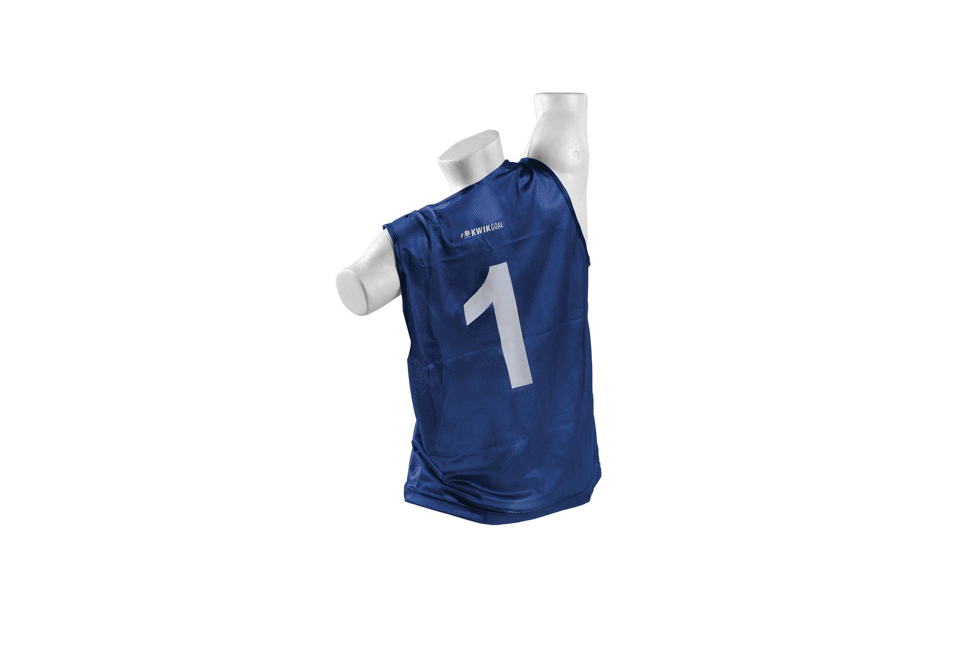 Blue Youth Rugby Vest Number 1 on Mannequin