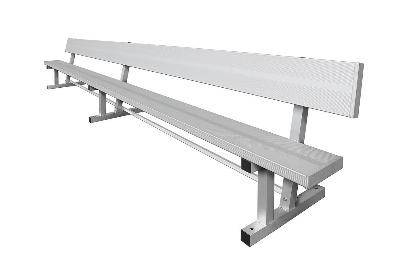 "Aluminum Bench With Back 15' Long 10"" Wide"