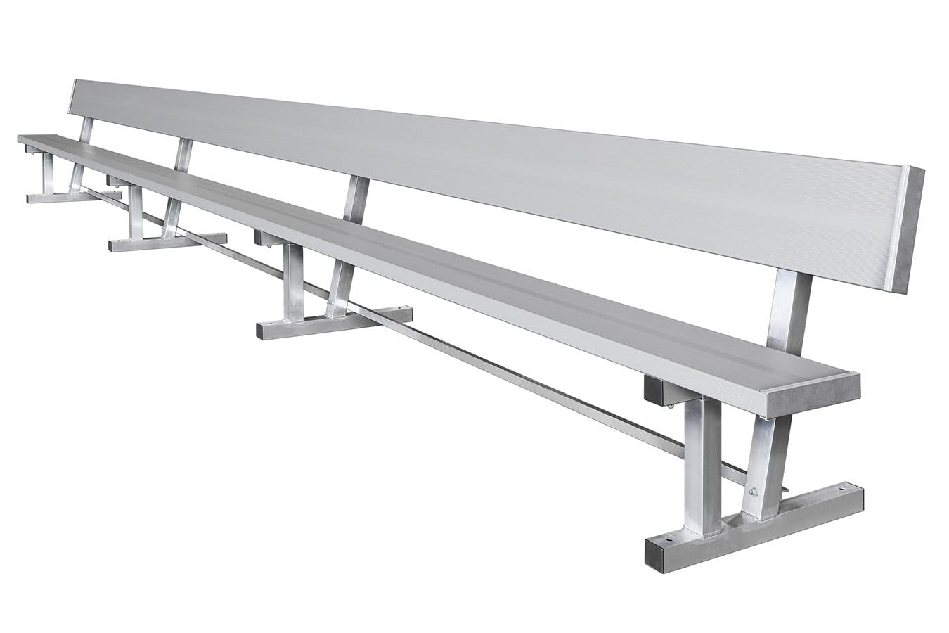 "Aluminum Bench With Back 21' Long 10"" Wide"