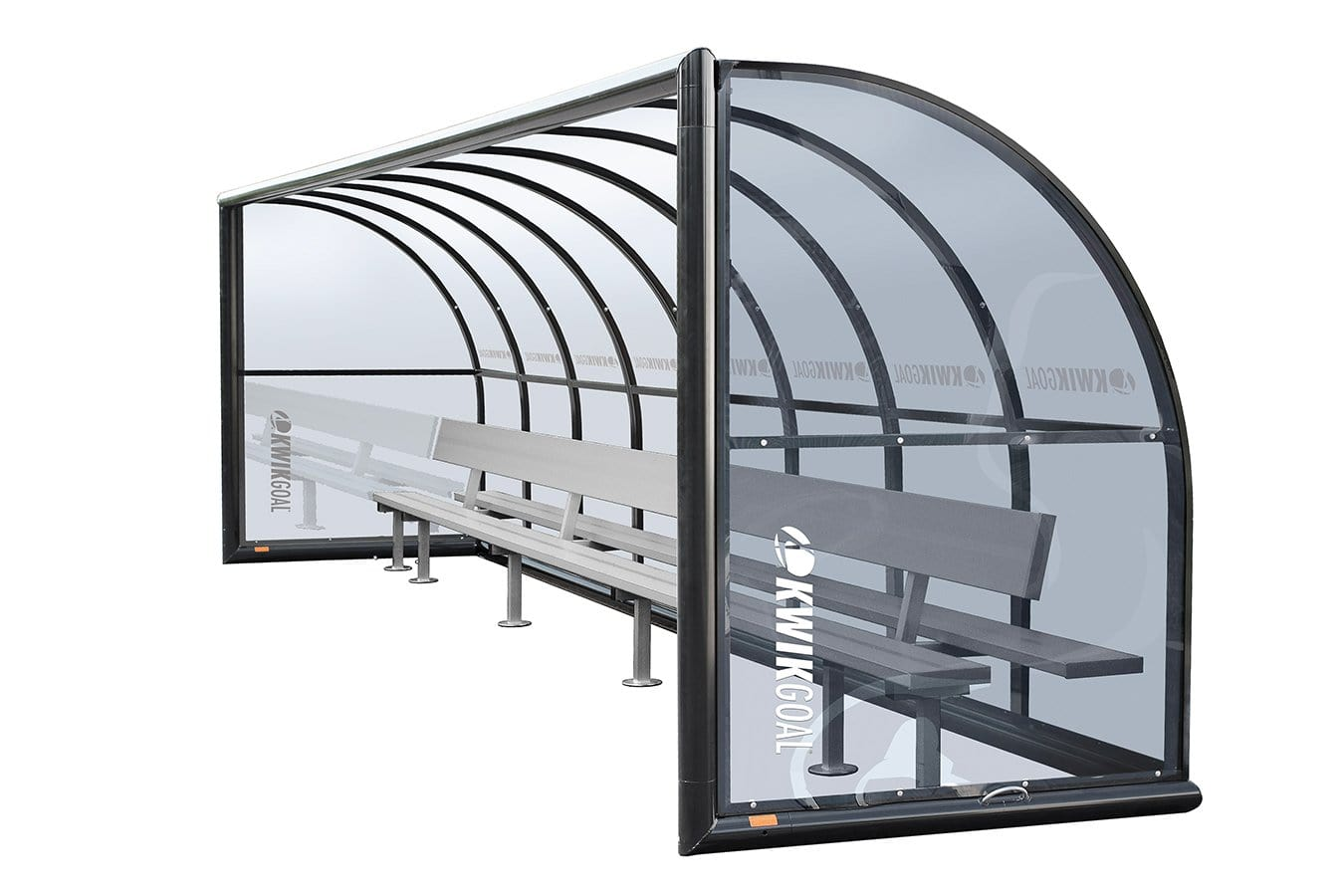 Grey-tinted Polycarbonate Shelter With Aluminum Bench