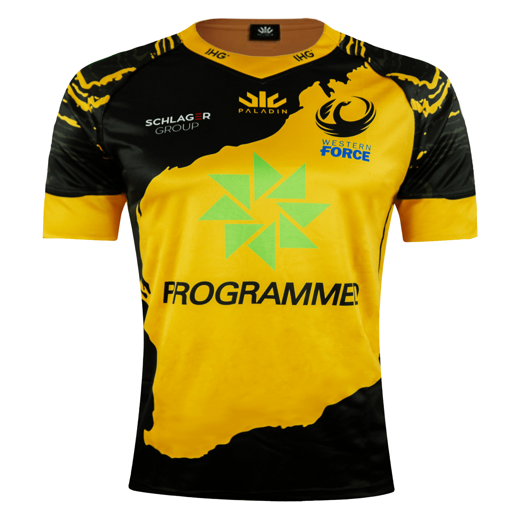 Paladin Western Force Away Rugby Jersey Black & Gold