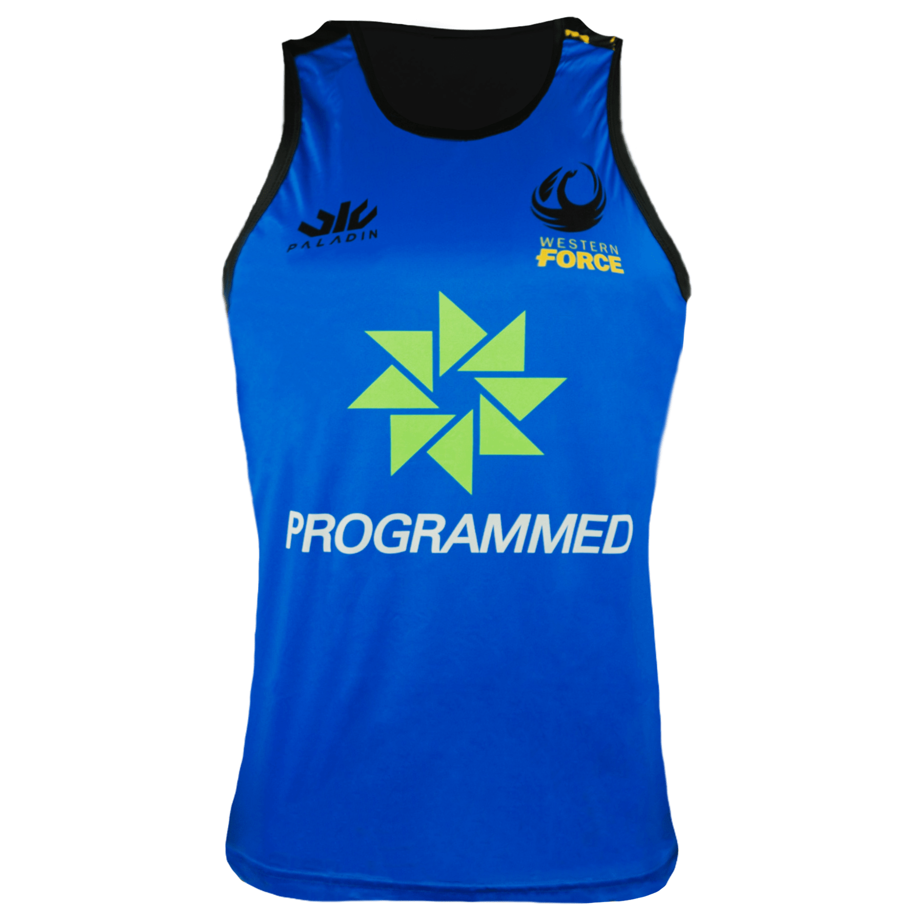 Paladin Western Force Rugby Training Singlet Front Blue