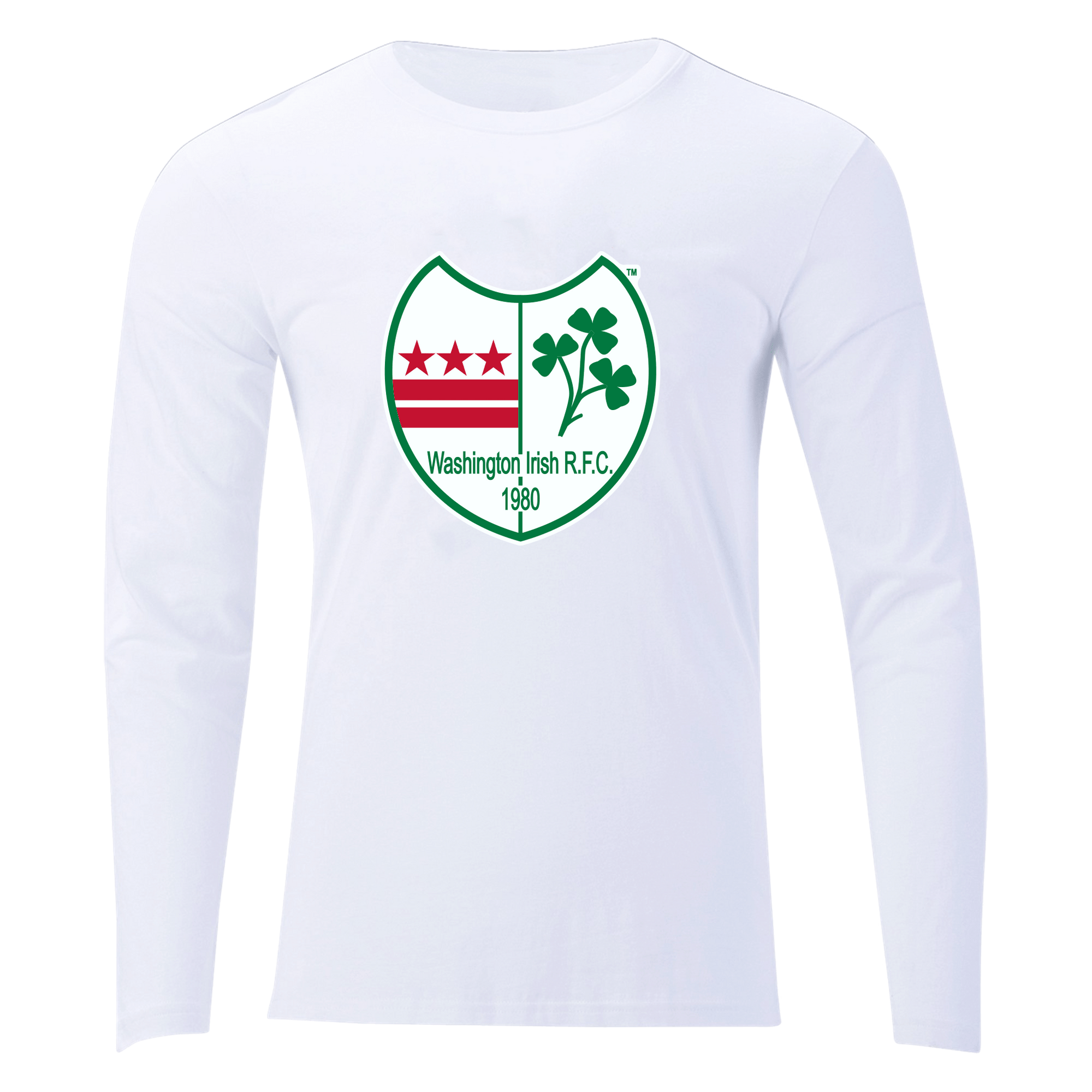Washington Irish Rugby Unisex Long Sleeve Tee White