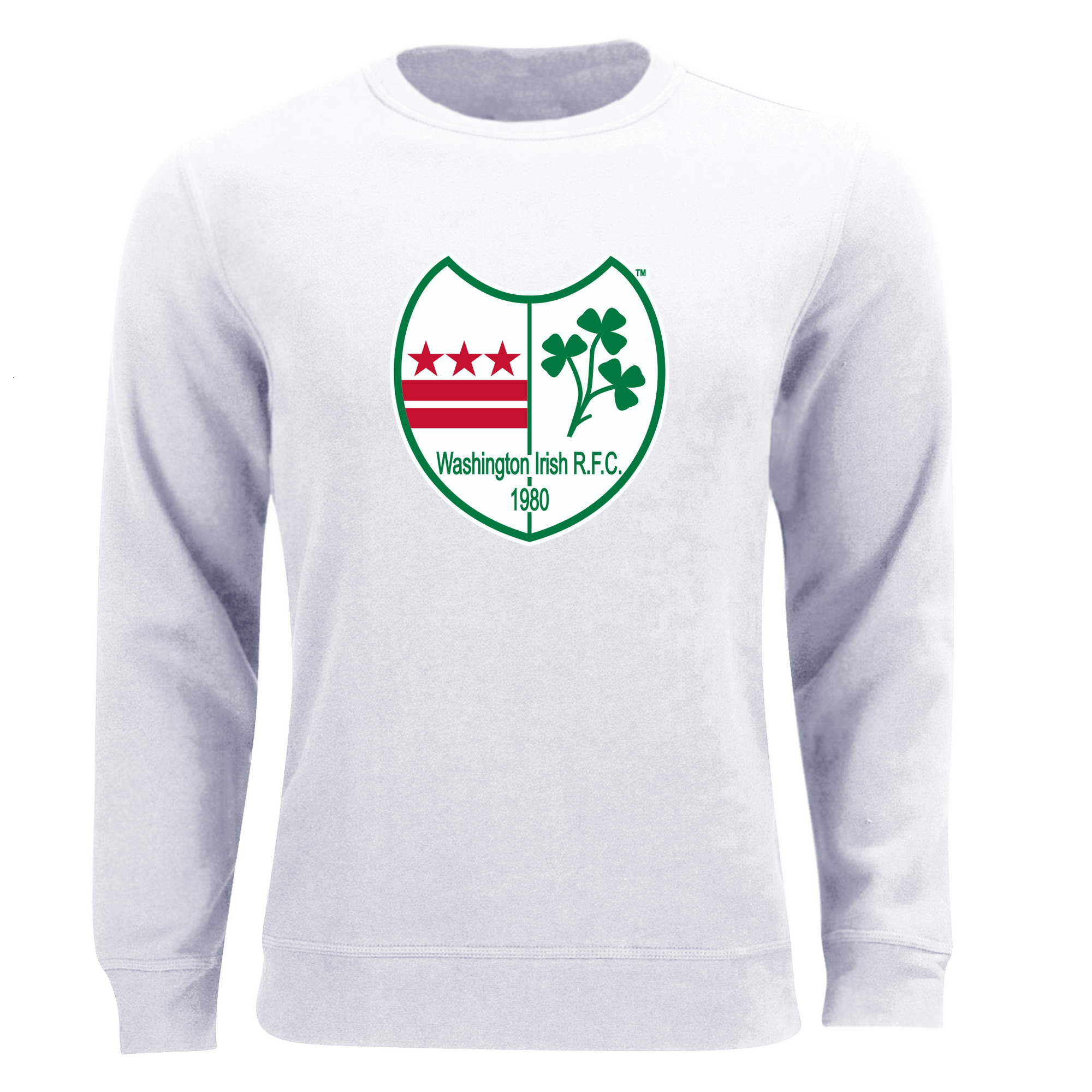 Washington Irish Rugby Unisex Sweatshirt White