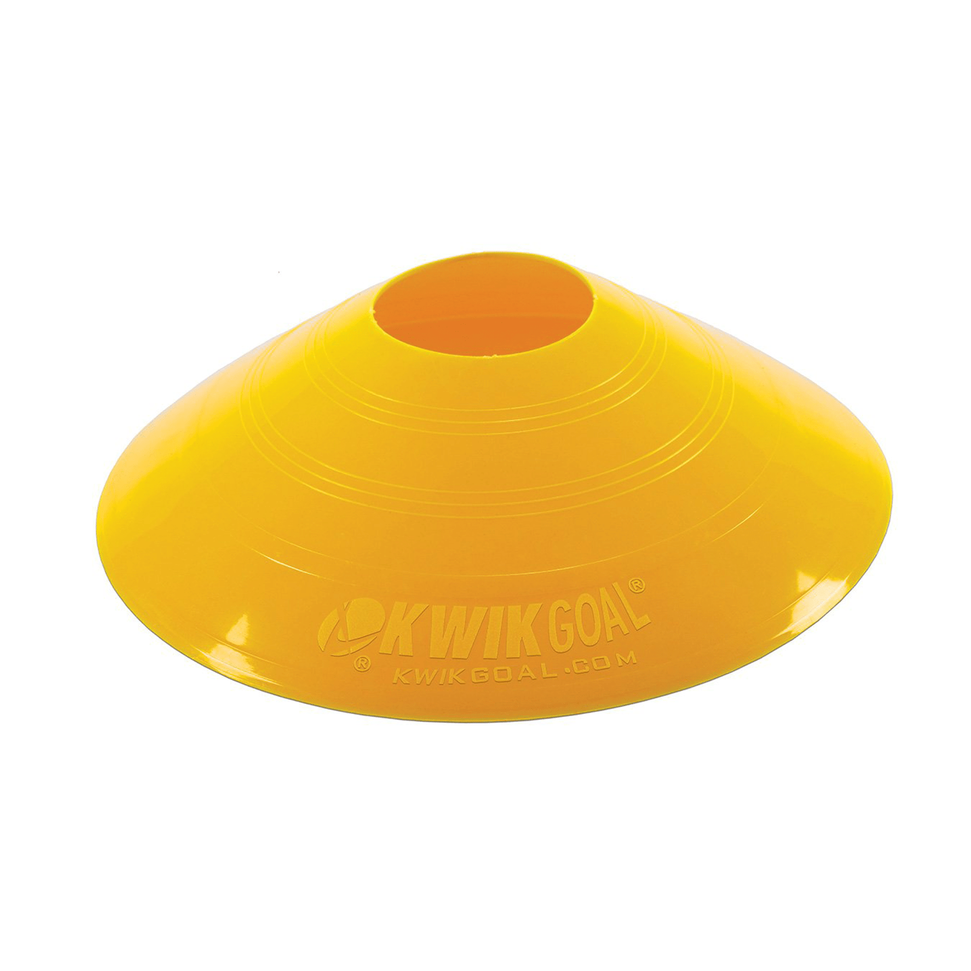 Small Yellow Disc Cones (Set of 25)