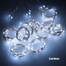 Load image into Gallery viewer, LED Fairy Lights Garland Curtain For New Year Christmas Decorations With Remote Control
