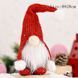 Christmas Tree Ornaments Faceless Doll New Year 2021