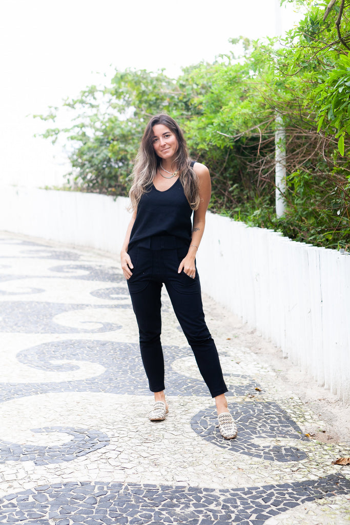 Calça Moletom Wave - Black