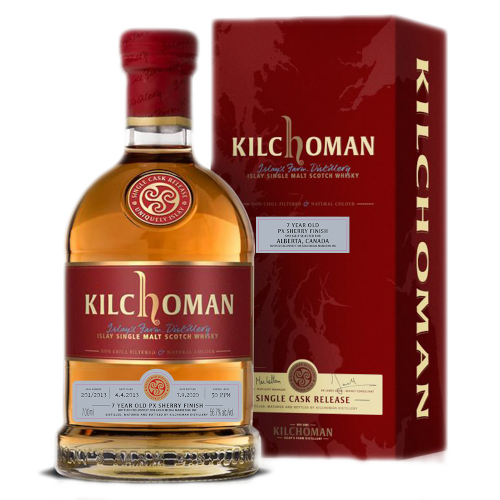 Whisky - Kilchoman, Special Alberta Bottling, 7 Year Old PX Sherry Finish