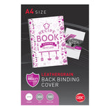 GBC BINDING COVER A4 L/GRAIN WHITE PK100@Free Delivery National Wide
