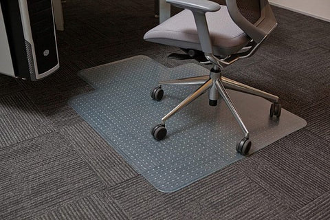PVC Keyhole   Reduce strain Chairmat for Carpet Free Delivery