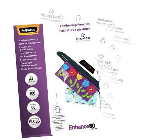 Laminating Pouches A4 Gloss 80 Micron Pack 100