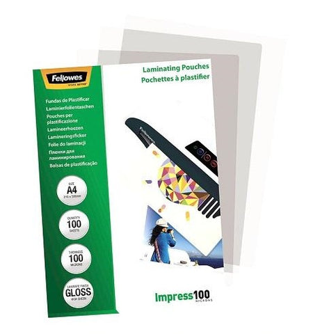 Laminating Pouches A4 Gloss 100 Micron Pack 100