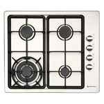 600mm Gas Hob, 3 Burner + Wok, Stainless Stee