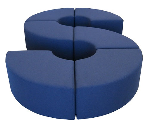 Quarter ottomans sofa made nz
