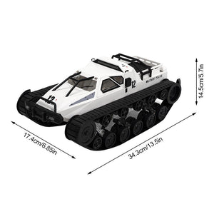 1:12 Scale Remote Control Police Tank Car (White)