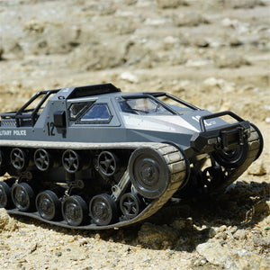 1:12 Scale Remote Control Police Tank Car (Grey + White)