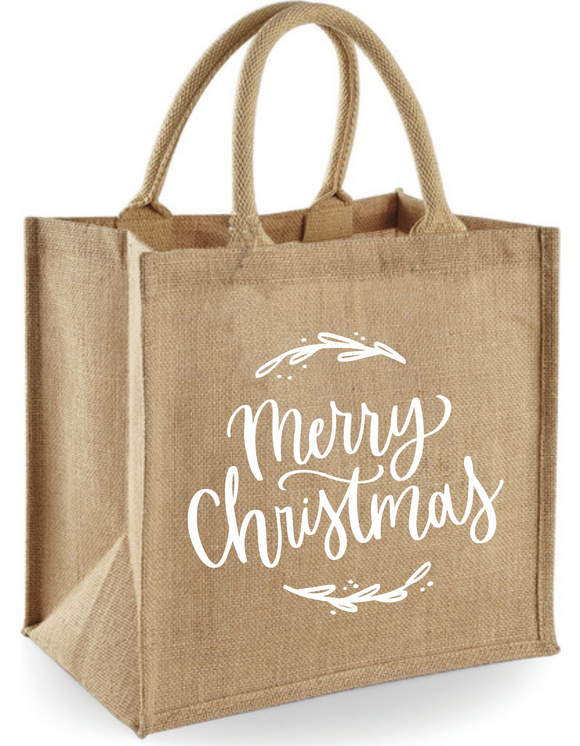 Jute Shopper *merry Christmas*